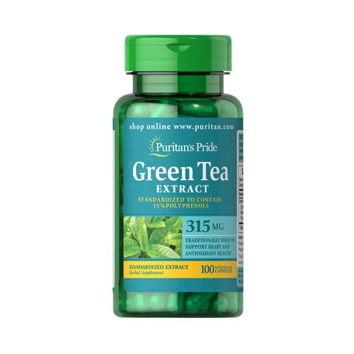 Puritan`s Pride Green Tea Standardized Extract 315 mg 100 cps-big